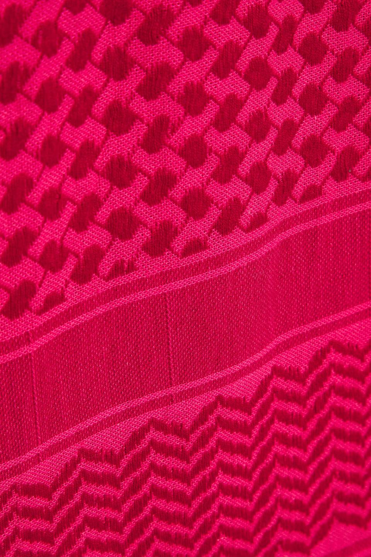 CECILIE  COPENHAGEN | Cecilie Copenhagen Woman Cotton-jacquard Top Claret | Clouty