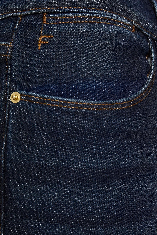 Frame | Frame Woman Cropped High-rise Slim-leg Jeans Dark Denim | Clouty