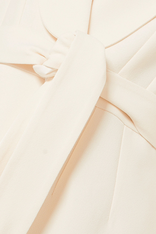 Racil | Racil Woman Michelle Belted Crepe Blazer Cream | Clouty