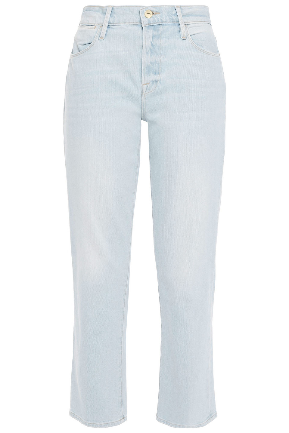 Frame | Frame Woman Le High Straight Faded High-rise Straight-leg Jeans Light Blue | Clouty