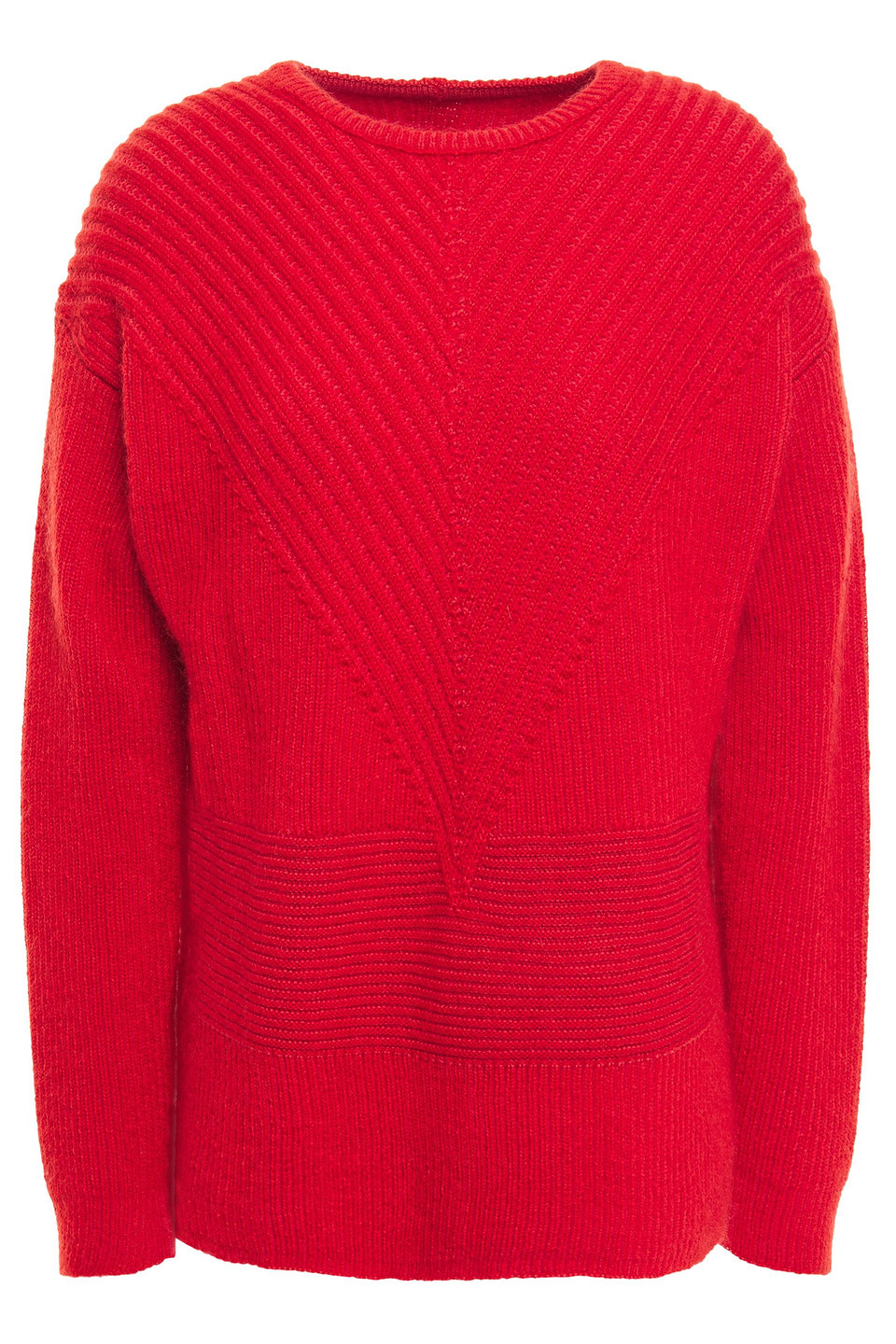 RICK OWENS | Rick Owens Woman Ribbed Wool-blend Sweater Red | Clouty