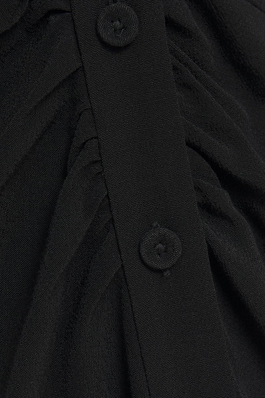 Diane Von Furstenberg | Diane Von Furstenberg Woman Cecilia Gathered Printed Crepe Dress Black | Clouty