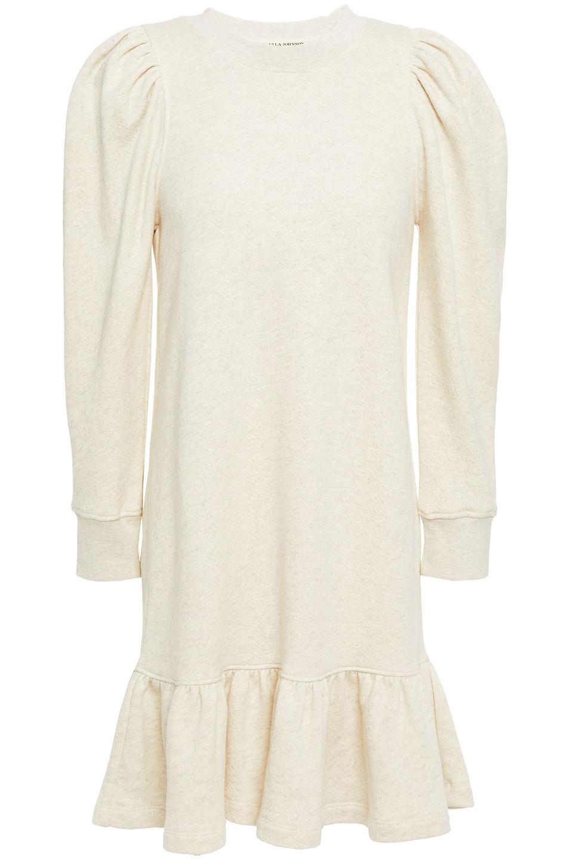 Ulla Johnson | Ulla Johnson Woman Fluted Cotton-terry Mini Dress Ecru | Clouty