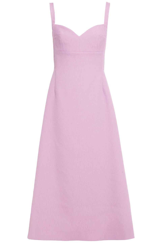 Emilia Wickstead   Emilia Wickstead Woman Myrna Textured Cloque Midi Dress Lilac   Clouty