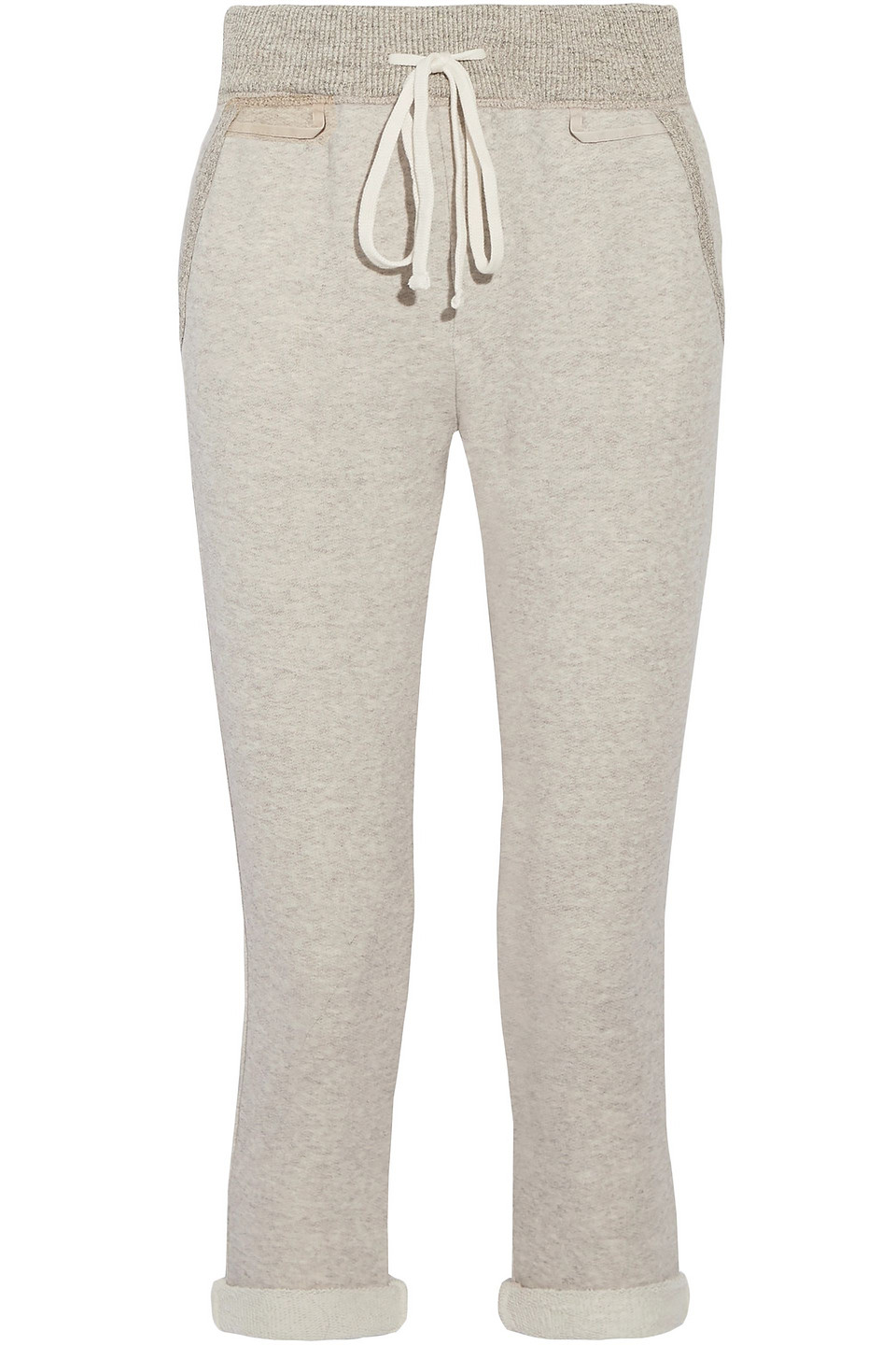 James Perse | James Perse Woman Cotton-blend Terry Track Pants Neutral | Clouty