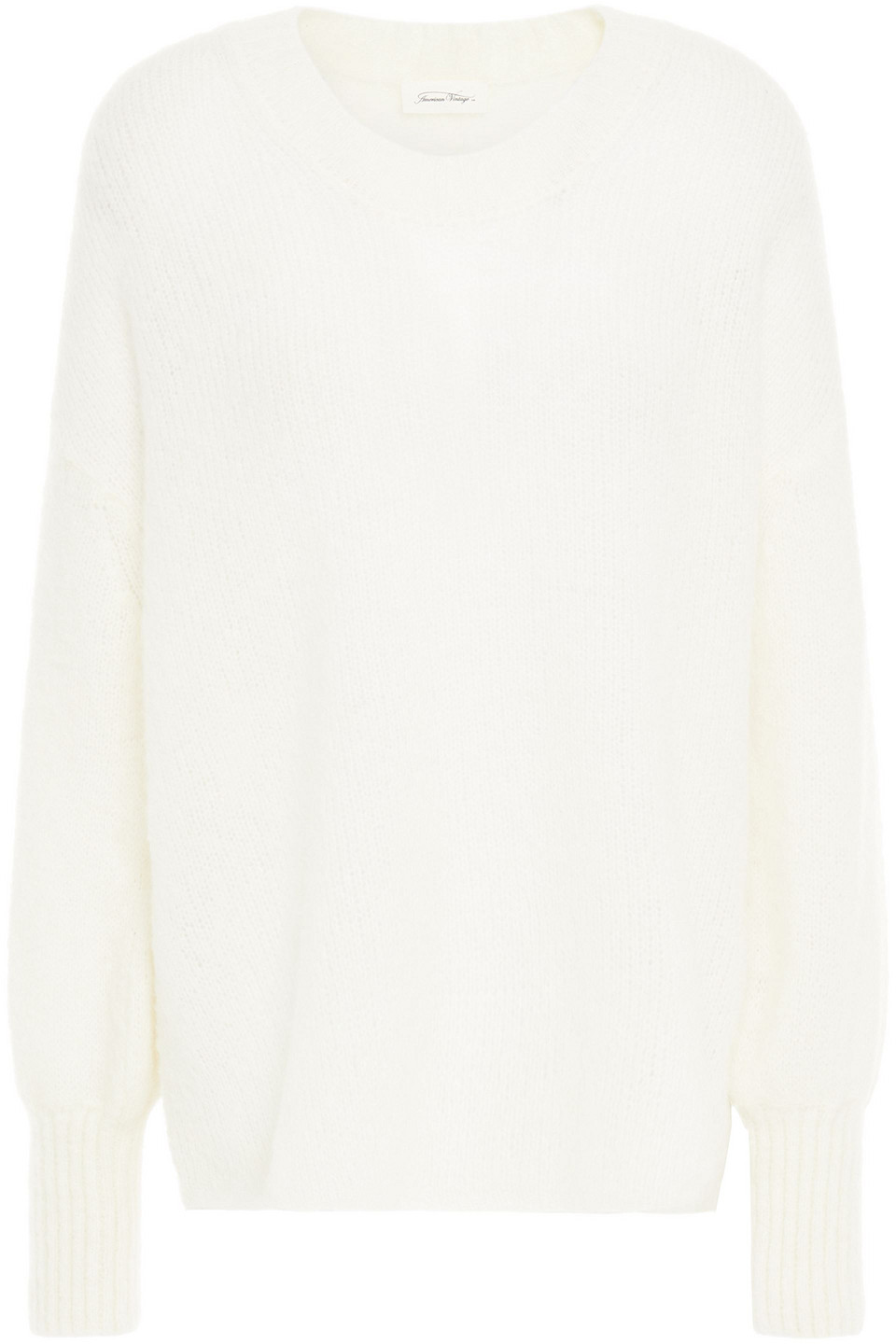 American Vintage | American Vintage Woman Brushed Knitted Sweater White | Clouty