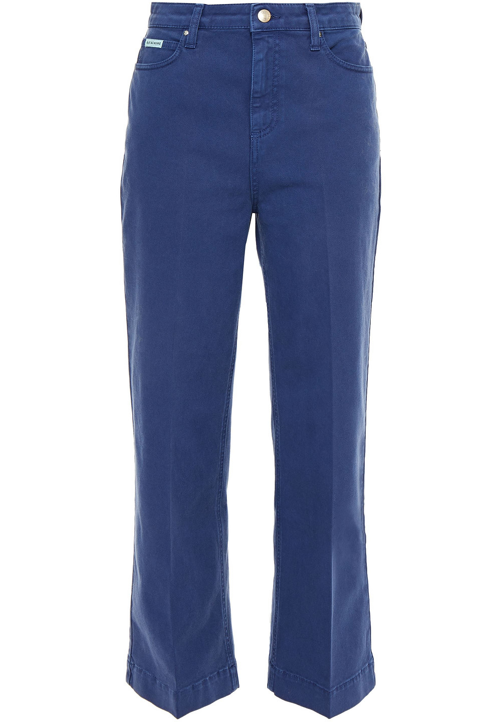 ALEXACHUNG | Alexachung Woman Cropped Wide-leg Jeans Indigo | Clouty