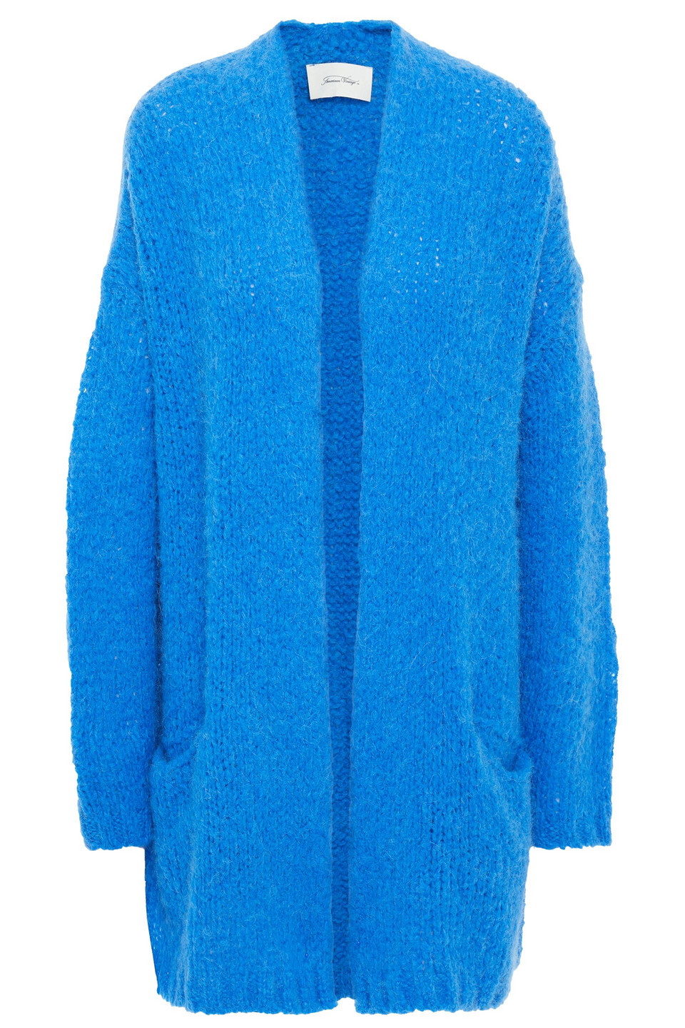 American Vintage   American Vintage Woman Brushed Knitted Cardigan Azure   Clouty