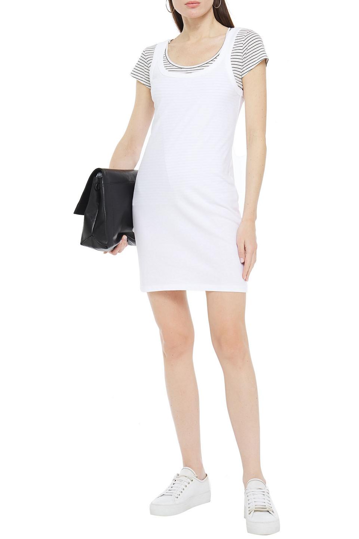 T by Alexander Wang | Alexanderwang.t Woman Cotton-jersey Mini Dress White | Clouty