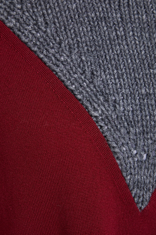 MM6 Maison Margiela | Mm6 Maison Margiela Woman Paneled Wool-blend Mini Dress Merlot | Clouty