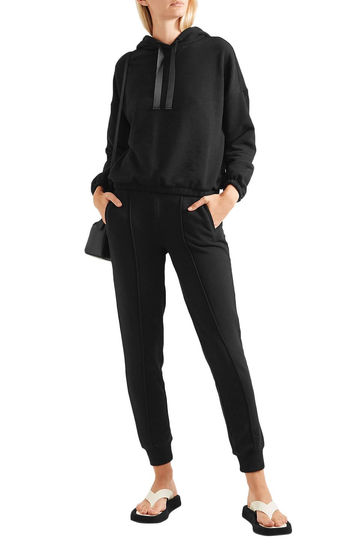 ATM | Atm Anthony Thomas Melillo Woman Cotton-blend Jersey Track Pants Black | Clouty