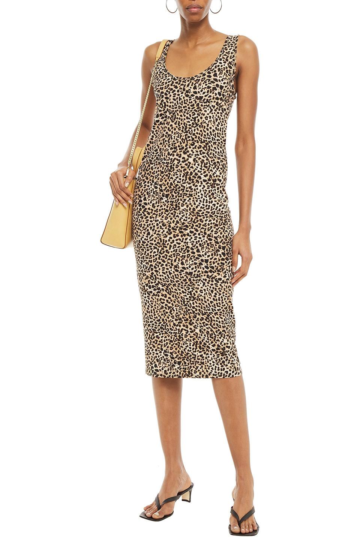 Enza Costa | Enza Costa Woman Leopard-print Stretch-jersey Midi Dress Animal Print | Clouty
