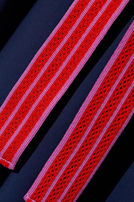 Diane Von Furstenberg | Diane Von Furstenberg Woman Marlene Wrap-effect Cotton-blend Poplin Dress Navy | Clouty