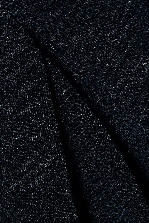 By Malene Birger | By Malene Birger Woman Ofiniol Gathered Ribbed-knit Mini Dress Midnight Blue | Clouty