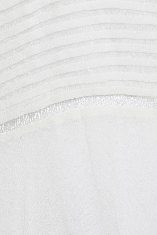IRO   Iro Woman Endouma Asymmetric Pintucked Swiss-dot Chiffon Dress White   Clouty
