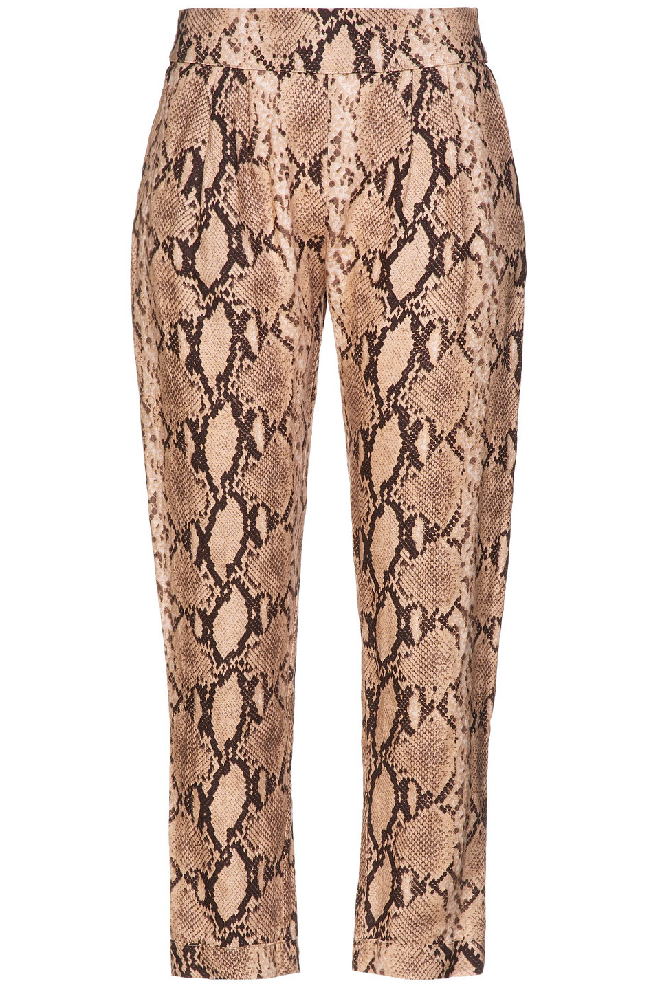 Enza Costa | Enza Costa Woman Cropped Snake-print Linen Tapered Pants Animal Print | Clouty