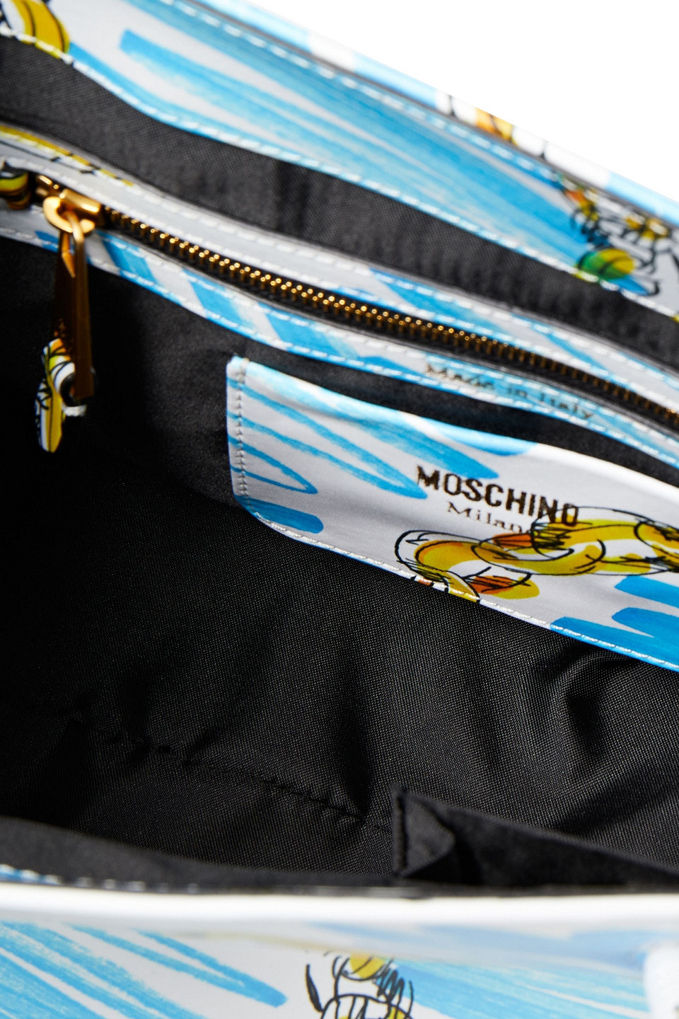 MOSCHINO | Moschino Woman Printed Leather Tote White | Clouty