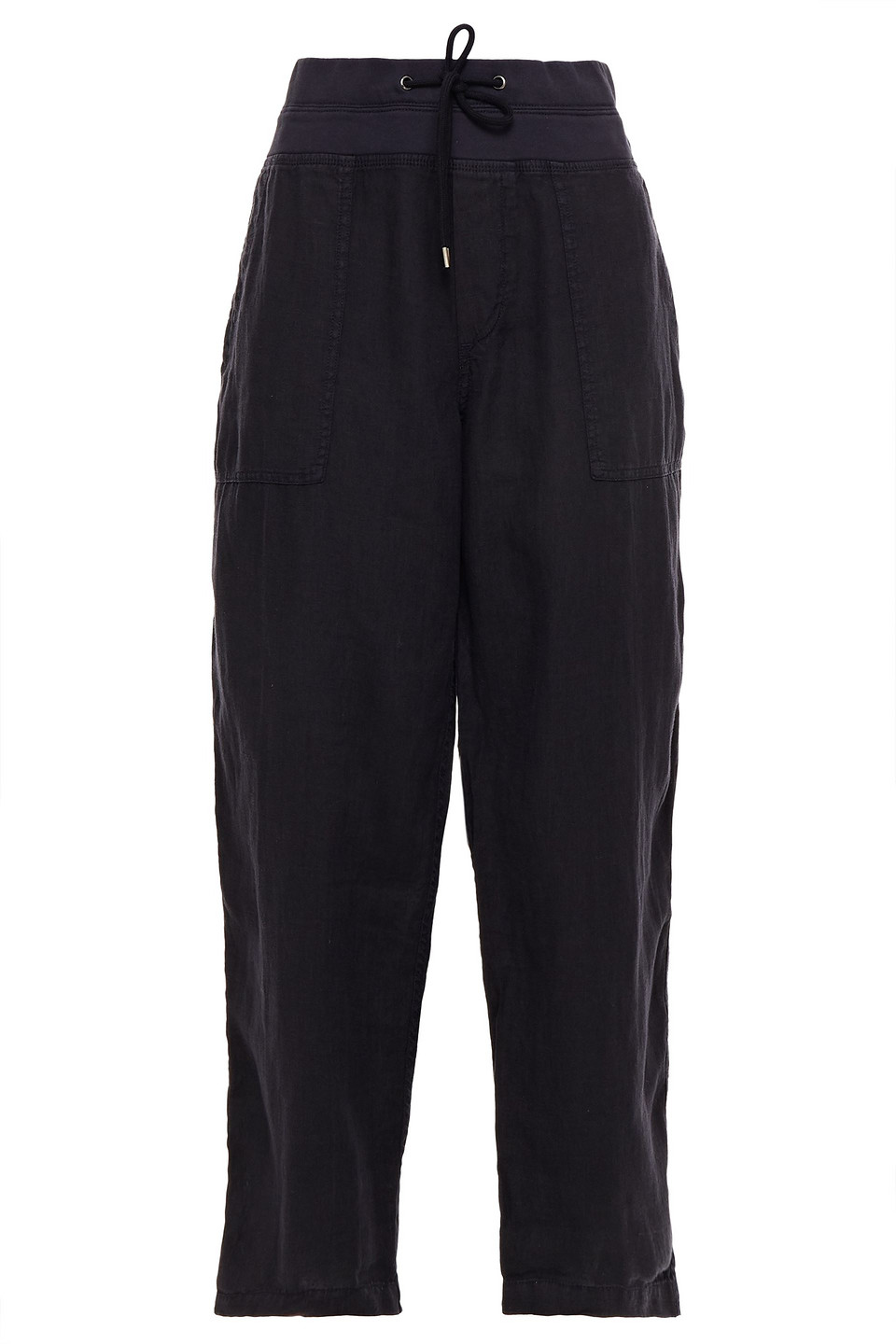 James Perse   James Perse Woman Linen Track Pants Charcoal   Clouty