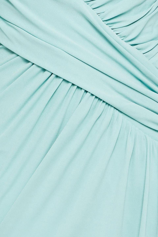 Alexandre Vauthier | Alexandre Vauthier Woman Asymmetric Gathered Crepe Midi Dress Mint | Clouty