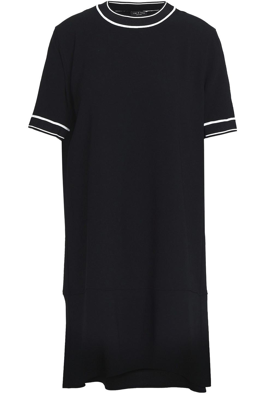 RAG & BONE | Rag & Bone Woman Thatch Crepe Mini Dress Black | Clouty