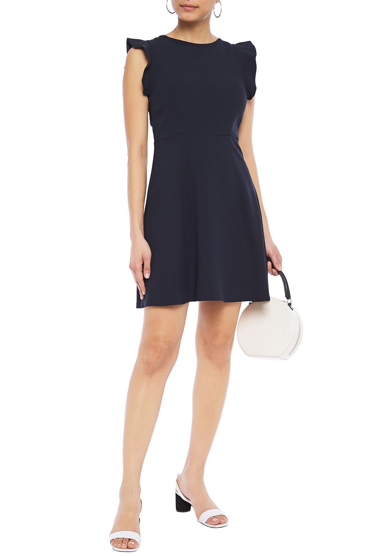 Claudie Pierlot | Claudie Pierlot Woman Open-back Bow-embellished Crepe Mini Dress Midnight Blue | Clouty