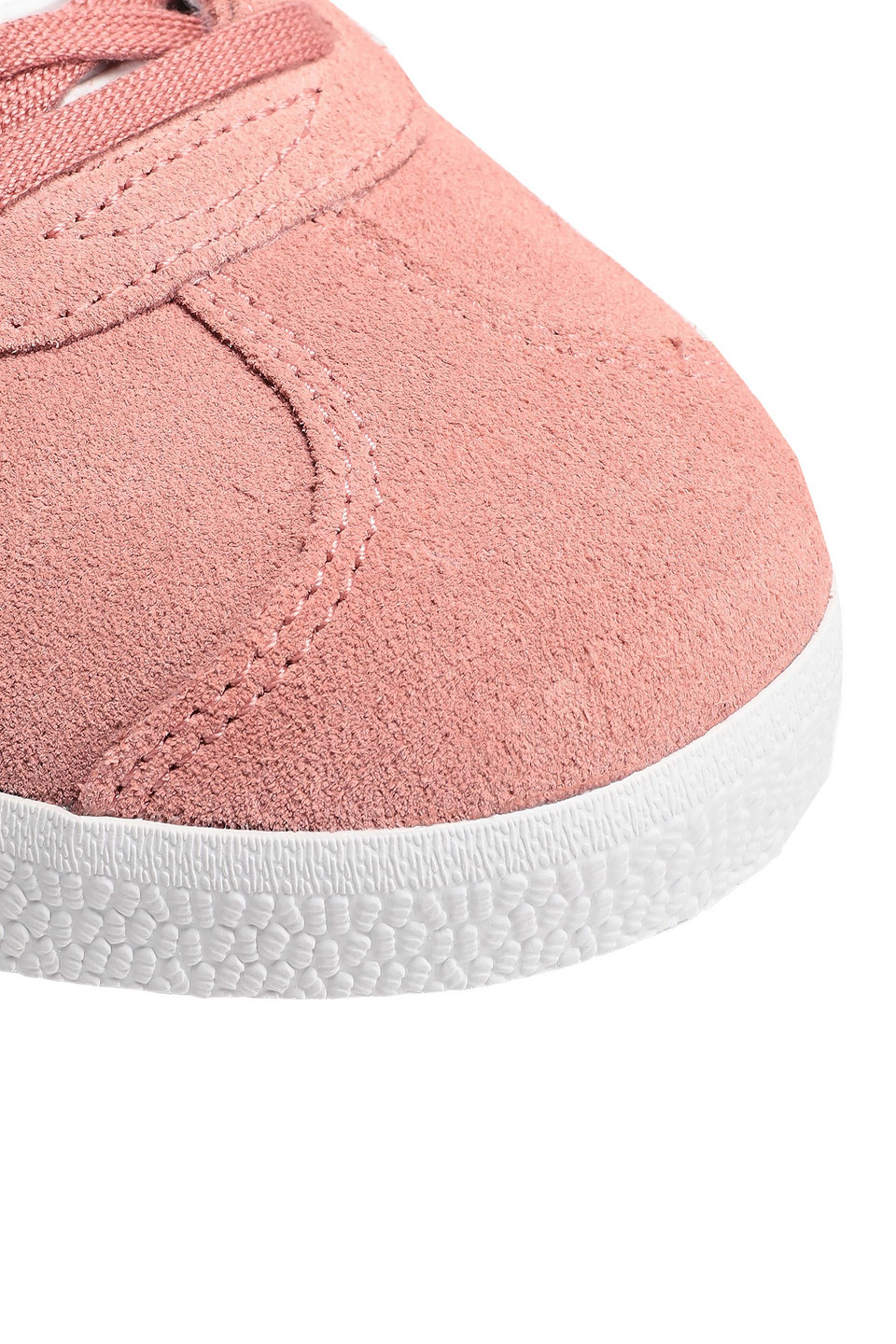 adidas Originals   Adidas Originals Woman Gazelle Leather-trimmed Suede Sneakers Antique Rose   Clouty