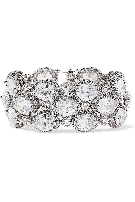 CZ By Kenneth Jay Lane | Cz By Kenneth Jay Lane Woman Silver-tone Crystal Bracelet | Clouty
