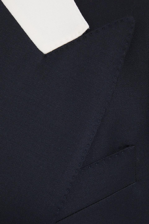 Dolce & Gabbana   Dolce & Gabbana Woman Double-breasted Wool-twill Blazer Midnight Blue   Clouty
