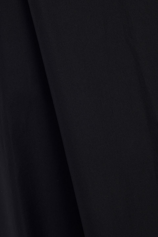 Khaite | Khaite Woman Claudia Lattice-trimmed Cotton-twill Midi Dress Black | Clouty