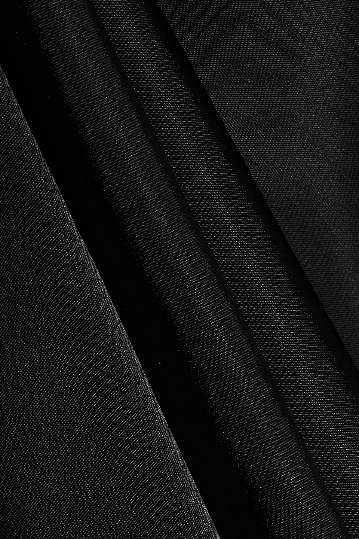 Ann Demeulemeester   Ann Demeulemeester Woman Asymmetric Tie-back Satin Dress Black   Clouty