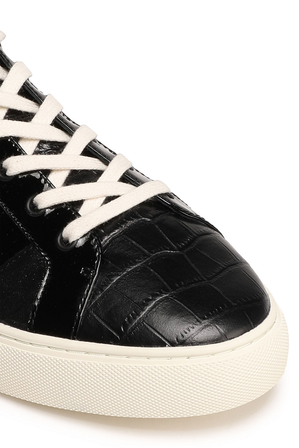 Tory Burch | Tory Burch Woman Paneled Leather Sneakers Black | Clouty