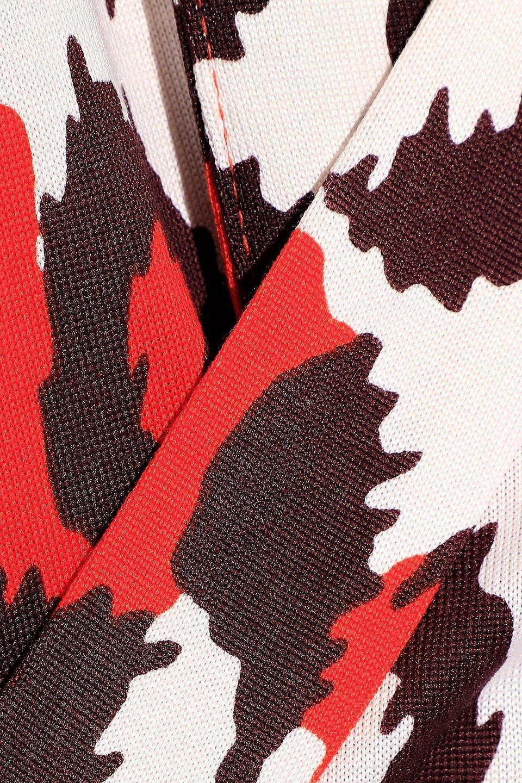 Diane Von Furstenberg | Diane Von Furstenberg Woman Julian Leopard-print Silk-jersey Mini Wrap Dress Orange | Clouty