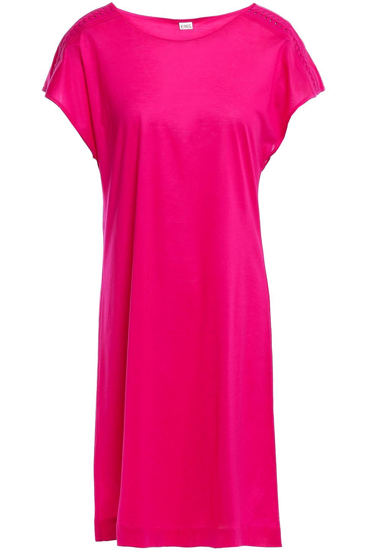 Eres | Eres Woman Ornella Braid-trimmed Cotton-jersey Mini Dress Magenta | Clouty