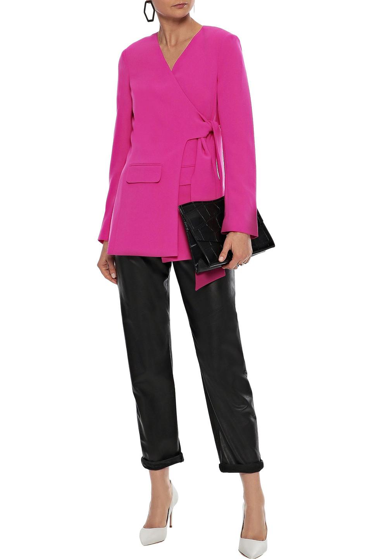 Diane Von Furstenberg | Diane Von Furstenberg Woman Cali Cady Wrap Blazer Fuchsia | Clouty
