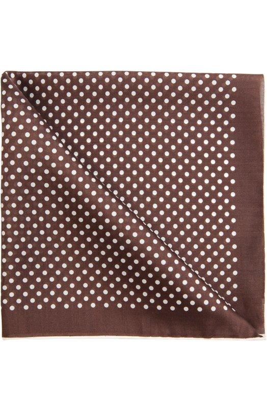 Tom Ford | Коричневый Шелковый платок в горох Tom Ford | Clouty