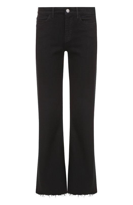 M.I.H Jeans | Черный Укороченные расклешенные джинсы с бахромой MiH Jeans | Clouty