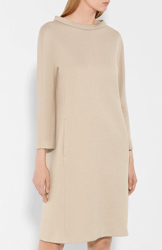 Windsor | Бежевый Хлопковое платье Windsor | Clouty
