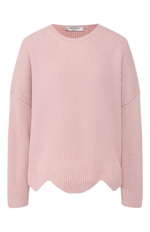 VALENTINO | Розовый Шерстяной пуловер Valentino | Clouty