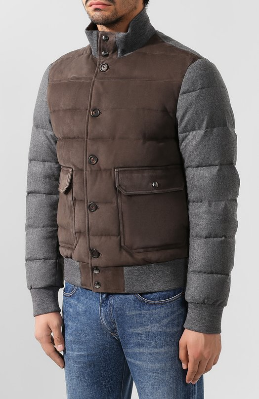 Canali | Темно-серый Замшевая куртка Canali | Clouty