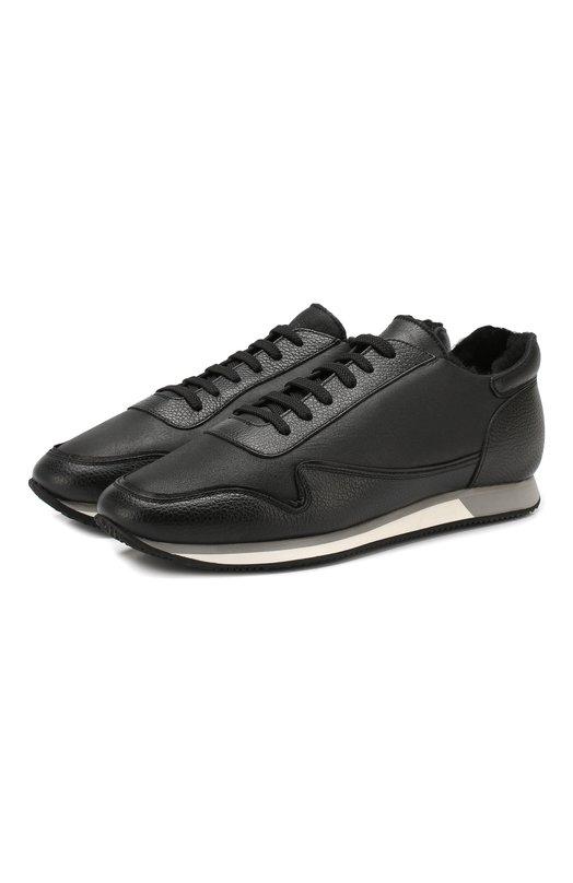 Aldo Brue | Черный Кожаные кроссовки Aldo Brue | Clouty