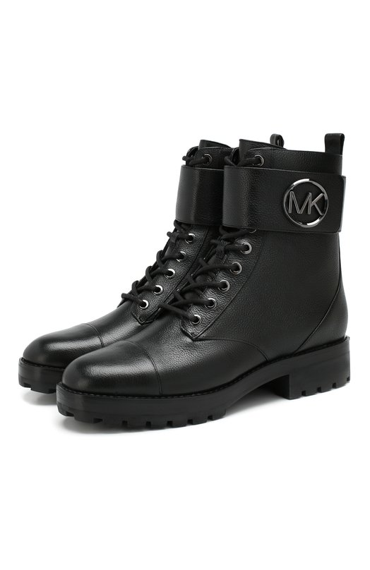 Michael Michael Kors | Черный Кожаные ботинки Tatum MICHAEL Michael Kors | Clouty