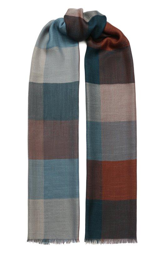 Loro Piana | Разноцветный Шарф из смеси шелка и льна Loro Piana | Clouty