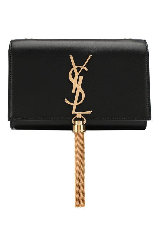 SAINT LAURENT   Черный Сумка Monogram Kate small на цепочке Saint Laurent   Clouty