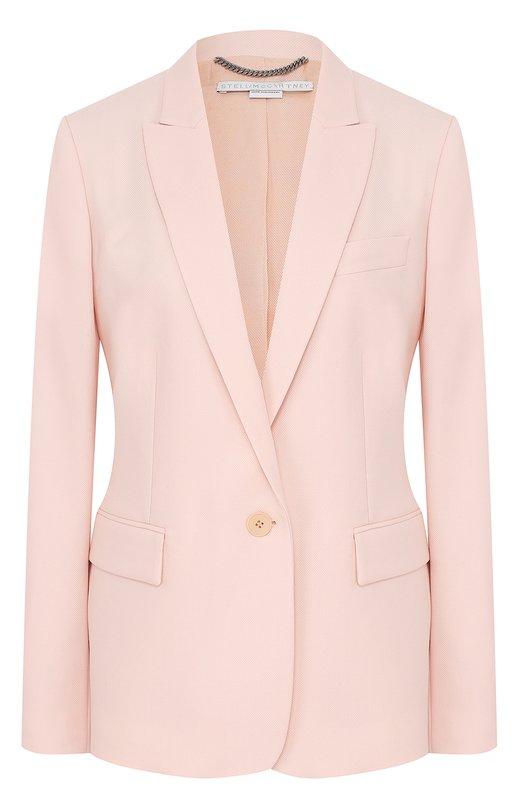 Stella McCartney | Светло-розовый Шерстяной жакет на одной пуговице с широкими лацканами Stella McCartney | Clouty