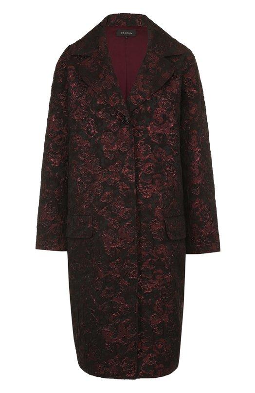 St. John | Фиолетовый Жаккардовое пальто свободного кроя St. John | Clouty