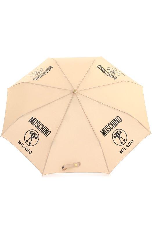 c01d92feb4ea Складной зонт с принтом Moschino 8010-0PENCL0SE, цвет: бежевый ...