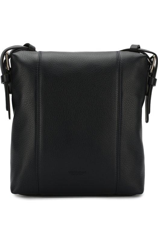 e6e74e548495 Giorgio Armani   Темно-синий Кожаная сумка-планшет Giorgio Armani   Clouty  ...