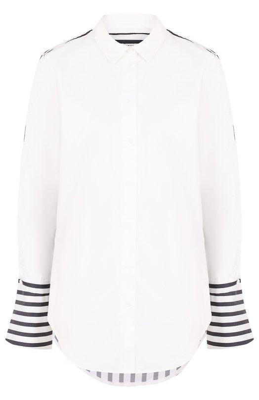 Equipment | Белый Хлопковая блуза в контрастную полоску Equipment | Clouty