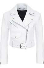 Фото Укороченная кожаная куртка с косой молнией CALVIN KLEIN 205W39NYC