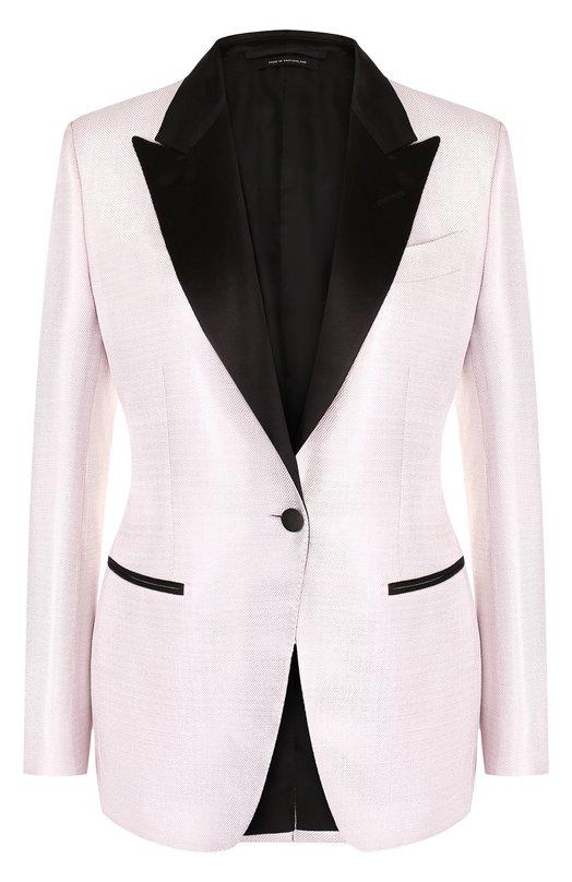 Tom Ford | Розовый Приталенный жакет с контрастными лацканами Tom Ford | Clouty